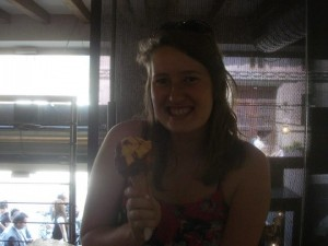 My first gelato in Italy!